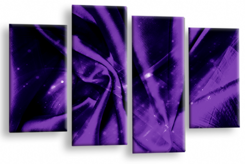 Modern Abstract Canvas Wall Art 2 Tone Purple Grey Black Picture